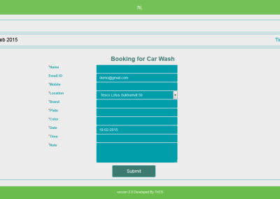 CarWash - Booking