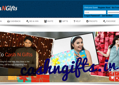 CashNGifts - Home Page