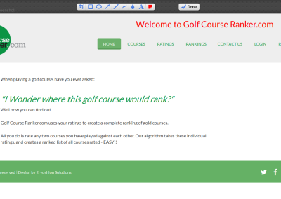Golf Course Ranker - Home