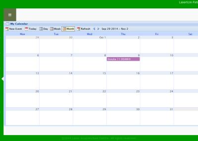 Laser PRM - Calendar