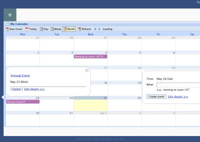 TotsHouse - Calendar