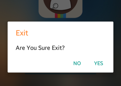 Who Care - Exit Application
