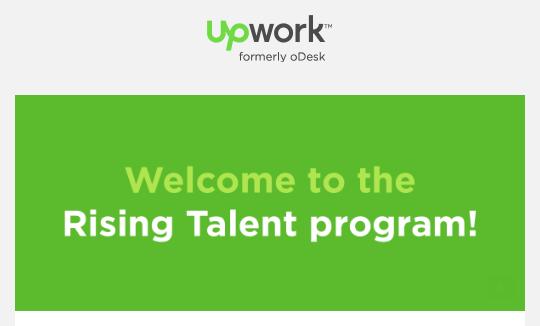 Got Upwork Rising Talent Award